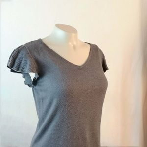 The Limited Gray Tee Butterfly Sleeves